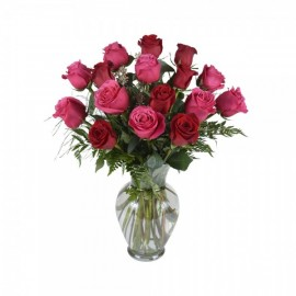 Le bouquet de 16 roses assorties